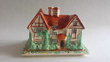 Crown Devon 'The Cheddar Cheese' cottage lidded cheese dish Art Deco