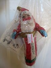HOUSE OF HATTEN 1992 SANTA CLAUS IN STOCKING DENISE CALLA CHRISTMAS ORNAMENT