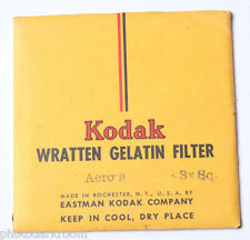 "Kodak Aero 2 Wratten Gelatin Filter - 76mm x 76mm 3x3"" Square - NEW Old Stock"