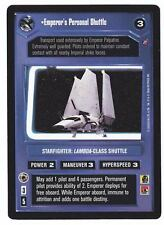 SWCCG Star Wars CCG • Emperor's Personal Shuttle Palpatine • DEATH STAR 2 • RARE