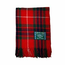 100% Wool Fraser Red Tartan Large Budget Throw