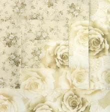 {12} Log Cabin Quilt Top Block { KIT } Roses Tone on Tone ~ Pre-Cut Ready to Sew
