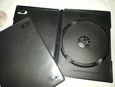 2 x Black 15mm Single DVD CD Case With Sleeve Clear cover pocket