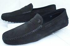 Tod's Men's Black Shoes Mocassin Loafers Drivers Size 8.5 Moc Suede NIB
