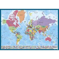 Sous main Planisphère Monde,carte des pays,continent,protège bureau,desk blotter
