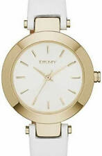 Brand New DKNY NY2404 Stanhope White Leather Band Women Quartz Watch