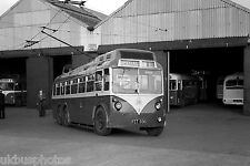 Rotherham Corporation Transport Trolleybus No.3 outside Rawmarsh depot Bus Photo