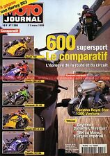 MOTO JOURNAL 1366 YAMAHA YZF R6 XVZ 1300 Royal Star Venture SUZUKI GSX-R 600 99