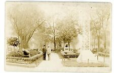 Newark NJ - VIEW IN MILITARY PARK - RPPC Postcard