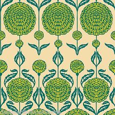 Birch Farm Chrysanthemum Blossoms - Peacock by Joel Dewberry quilting fabric