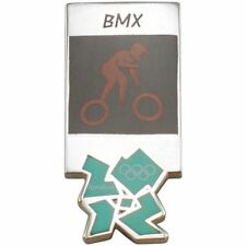 2012 London Olympics official pictogram BMX competition PIN badge MIP mint