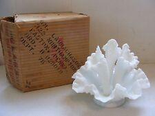 Lovely Vintage 3 Horn Fenton Hobnail Epergne Trumpet Vase In Original Box