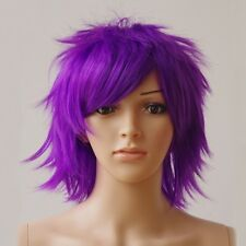Cool Male Female Straight Short Hair Wigs Cosplay Fancy Dress Full Wig Colors #l