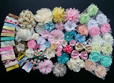 Baby Shower Station,Deluxe DIY kits,Headband,shabby flowers Party Supply,Xms N