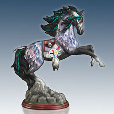 Blue Feather Spirit of the Painted Pony Horse Figurine Bradford Exchange Native