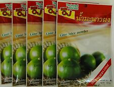 LIME POWDER  = 30 WHOLE LIMES - JUICE - AUTHENTIC THAI SIMPLE  FREE INT POSTAGE