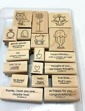 Stampin' Up! GOODY GOODY GUMDROPS 19 Piece Retired Wood Mount Stamp Set