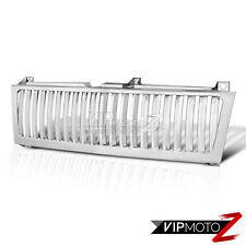 99-02 Chevy Silverado 1500/2500 Glossy Chrome Front Bumper Vertical Grille