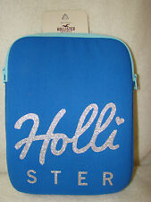 HOLLISTER TABLET/ I PAD / KINDLE, SLEEVE CASE,BLUE SCRIPT HOLLISTER ON FRONT,NWT