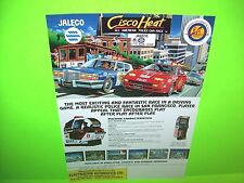 Jaleco CISCO HEAT Original 1991 NOS Video Arcade Promo Flyer Rare Euro Nice Art