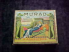 EARLY MURAD TURKISH TOBACCO CIGARETTES PACK, BOX,  EXCELLENT