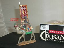 KING AND COUNTRY MK81 CRUSADERS KNIGHT CAMEL FLAGBEARER MOUNTED TOY SOLDIER