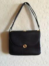 Bally Black Leather Shoulder Bag Purse Retail $440