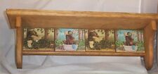 Wood Shelf Solid Pine Bear in Tub Country Home Decor Handcrafted Laughing Bear