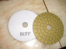 "6 Pieces of 5"" DAMO White Final Buffing Pad for granite marble concrete sander"