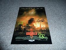 "GODZILLA PP SIGNED 12"" X 8"" A4 PHOTO POSTER BRYAN CRANSTON AARON TAYLOR-JOHNSON"