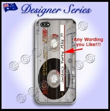 Personalised Apple iPhone 5 5G 5S Hard Cover Retro Tape Vintage Cassette 84