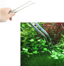 Aquarium Live Plant Tank Curve Scissors Stainless Steel Tweezers 27CM Useful