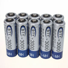 Lot 10pcs AA 3000mAh 1.2 V Ni-MH rechargeable battery BTY for RC Toys Camera MP3
