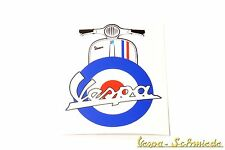 "VESPA Aufkleber ""Beinschild Target"" - Blau - GB UK England Mod Patch V50 Rally"
