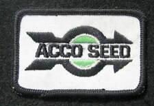 "ACCO SEED SEW ON PATCH FARM FARMING ADVERTISING COMPANY UNIFORM 3"" x 2"""