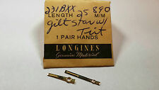 Longines Gilt/gold Star, Hour and Minute hands for Movement Cal 890, length 25mm