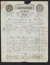 """NIMES (30) USINE de TAPIS / FILATURE DE LAINE """"REDARES Freres"""" Voyagée en 1848"""