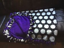 "purple hand tied volleyball fleece blanket, double-layered 51"" by 70"""