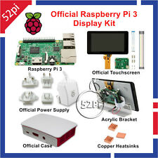 Official Raspberry Pi 3 Display Kit 7 inch 800x480 Touch Screen Power Supply