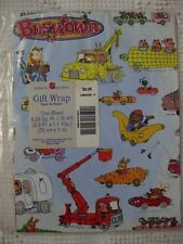 VINTAGE? AMERICAN GREETINGS GIFT WRAP PAPER RICHARD SCARRY'S BUSYTOWN BLUE