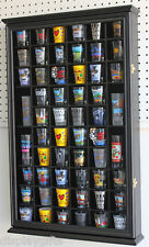 56 Shot Glass Display Case Holder Cabinet  Holder Rack, Glass door  -SC56-BLA