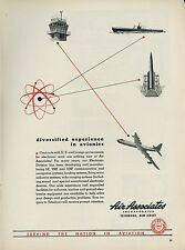 1951 Air Associates Ad Aircraft Parts Supply Atom Graphics & Convair B-36 Bomber