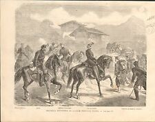 Switzerland Uniforms Infantry Officer Artillery Soldiers GRAVURE OLD PRINT 1869