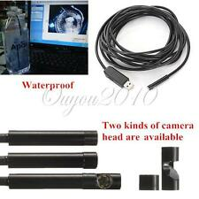 5M USB 6 LED 7mm Waterproof Snake Borescope Endoscope Inspection Video Camera