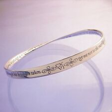 Shakespeare Sonnet Bracelet Bangle Inspirational Message STERLING SILVER Love