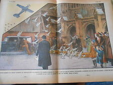 Match original entre un Aréoplane et des pigeons voyageurs Angleterre Print 1934