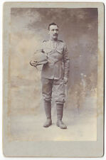 CABINET CARD Photograph Victorian Soldier with Pith Helmet