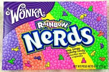 1 X Wonka Rainbow Nerds 141g Box Retro Sweets