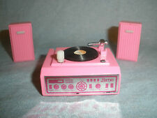 Barbie Action Accents Record Player Stereo Speakers Vtg 1987 Wind Up Toy #B67