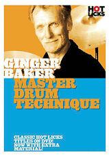 GINGER BAKER CREAM MASTER DRUM TECHNIQUE DVD NEW